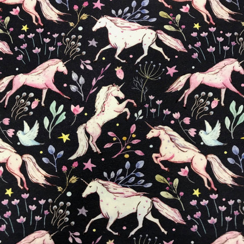Magical Unicorns cotton sweatshirting (by the half metre)