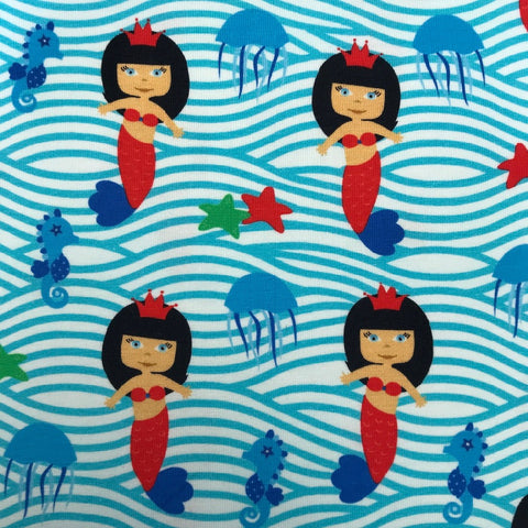 Mermaids cotton jersey (by the half metre)