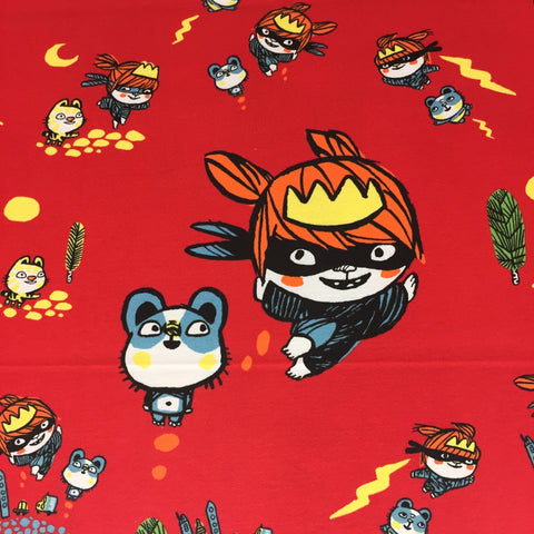 Ninja Princess organic cotton jersey (by the half metre)