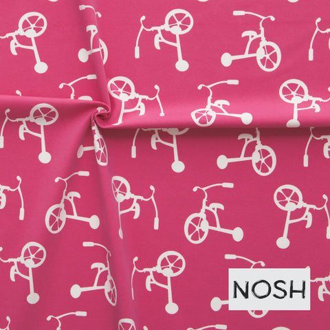 SALE Tricycle raspberry organic cotton jersey (by the half metre)