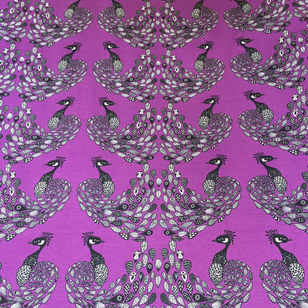 Peacock Violet organic cotton jersey (by the half metre)