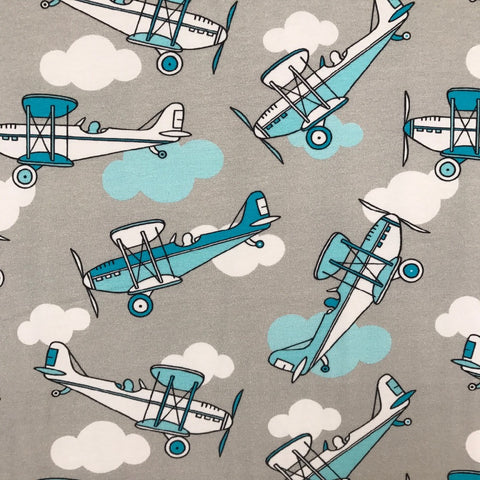 Planes organic cotton jersey (by the half metre)