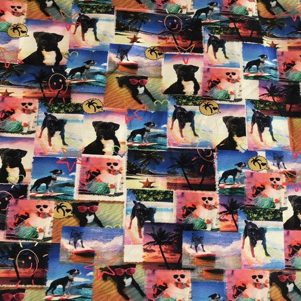 Pugs digital cotton jersey (by the half metre)