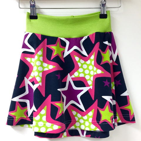 Purple Stars organic tennis skirt