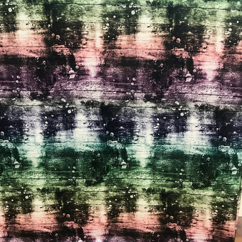 Rainbow Concrete organic digital cotton jersey (by the half metre)