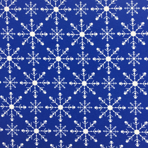 SALE Simple Snowflake organic cotton jersey (by the half metre)