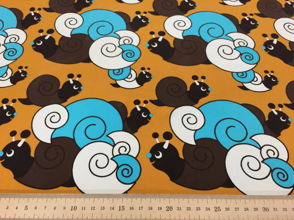 Snails organic cotton jersey (by the half metre)
