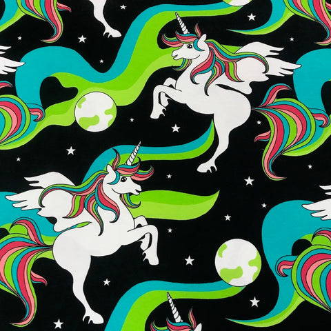 Unicorn Northern Lights organic cotton jersey (by the half metre)