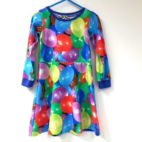 Water balloon skater dress