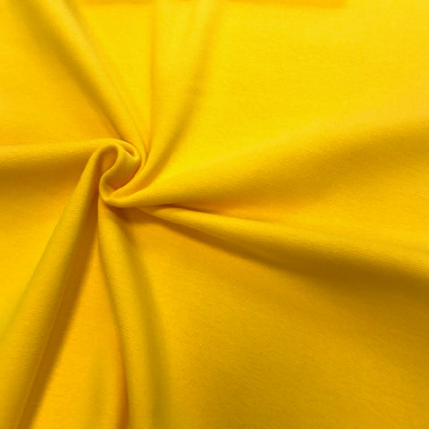 Bright yellow cotton ribbing (by the third metre)
