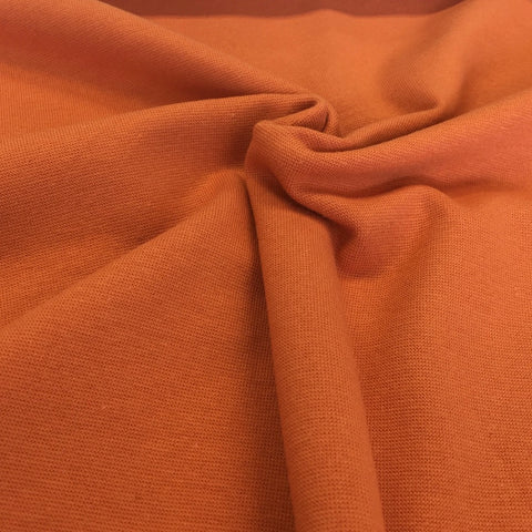 Burnt orange cotton ribbing (by the third metre)