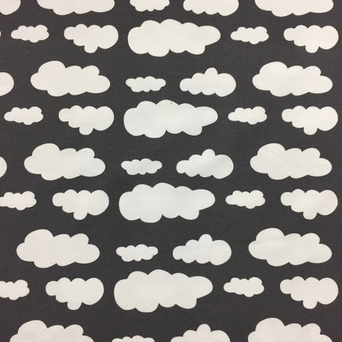 Charcoal clouds cotton jersey (by the half metre)