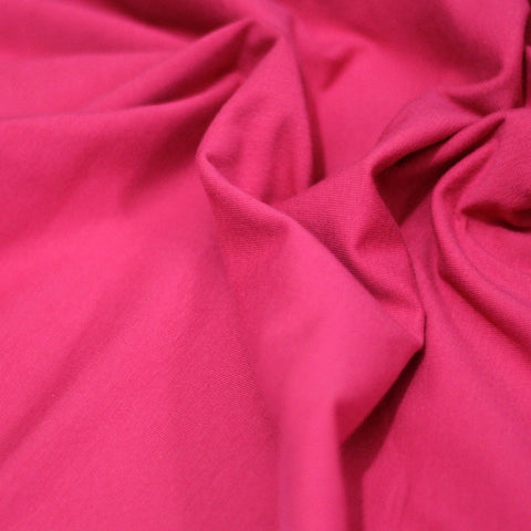 Fuchsia plain cotton jersey (by the half metre)