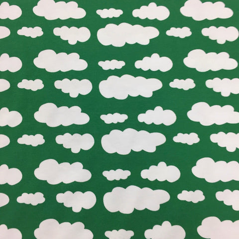 Green clouds cotton jersey (by the half metre)