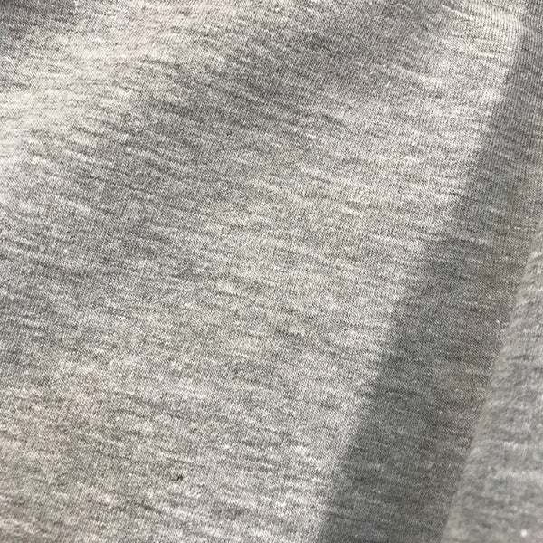 Melange grey plain cotton sweatshirting (by the half metre)