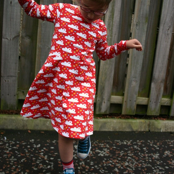 Little Girls' Skater Dress sewing pattern -18m/2T, 3T/4T, 5Y/6Y, 7Y/8Y - PDF