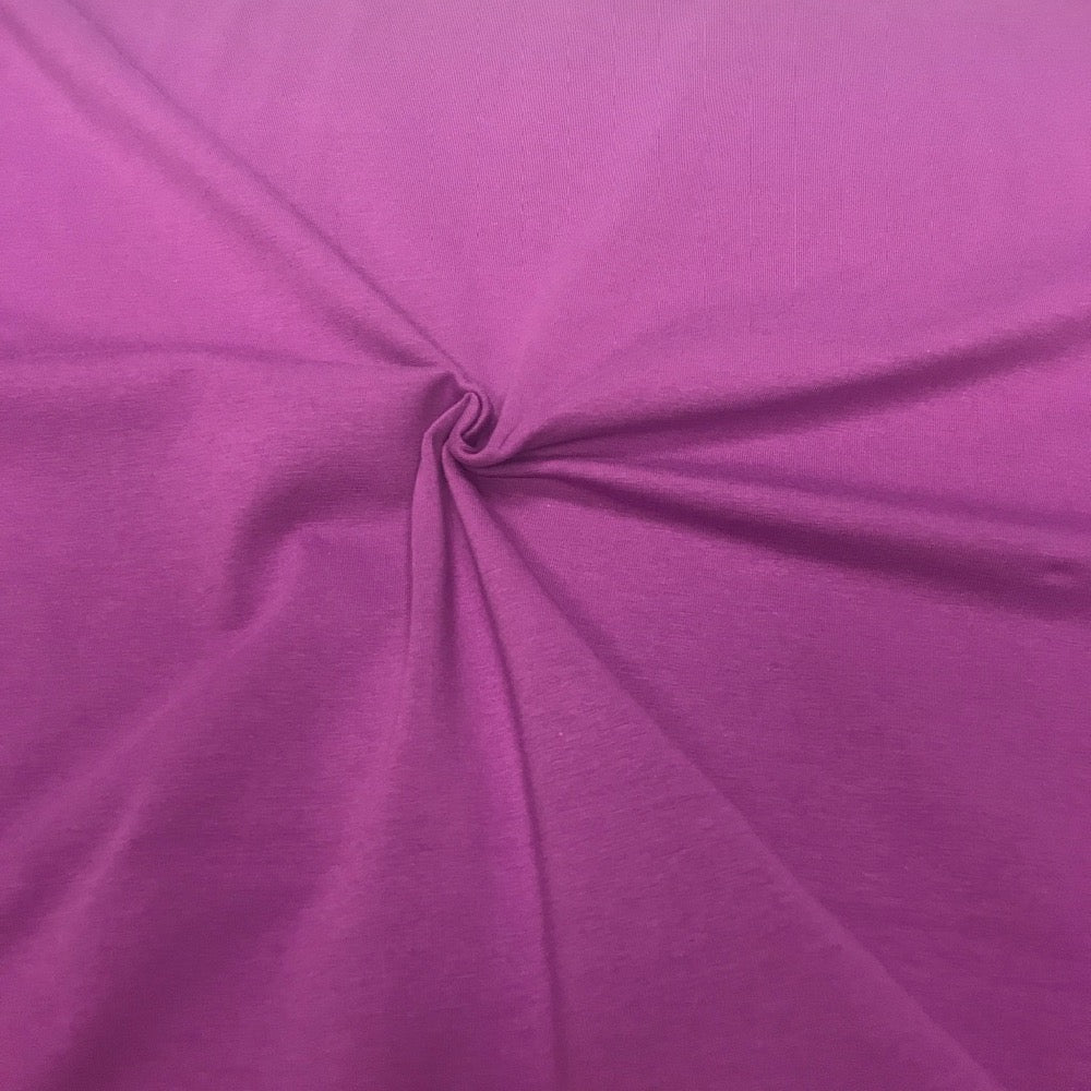 Orchid plain cotton jersey (by the half metre)