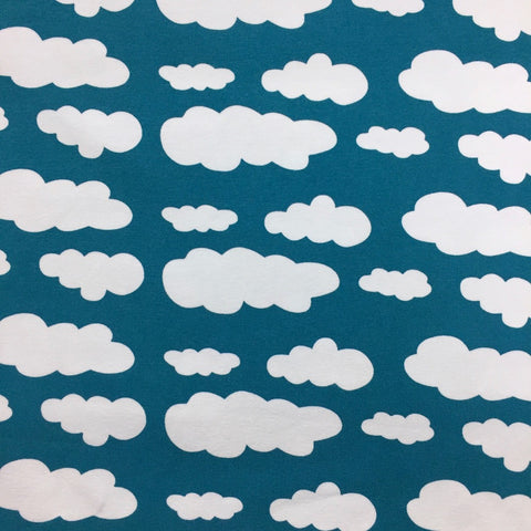 Petrol clouds cotton jersey (by the half metre)