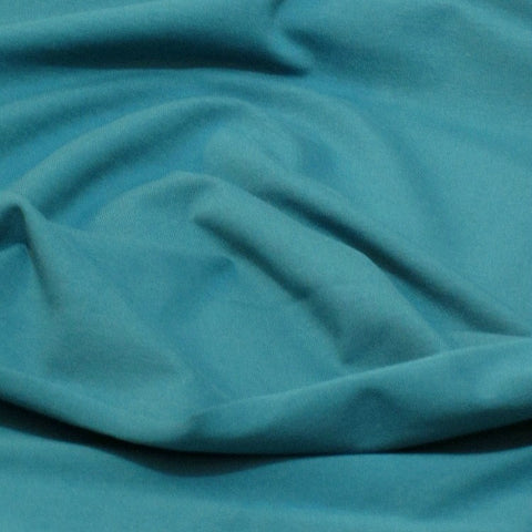 Petrol plain cotton jersey (by the half metre)