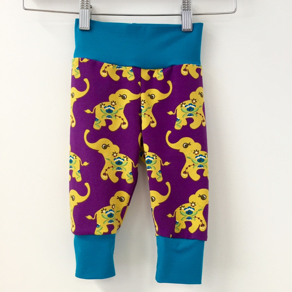 Purple Elephants organic jersey slouchy trousers