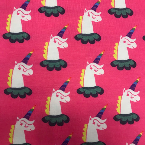 Rainbow unicorn cotton jersey (by the half metre)