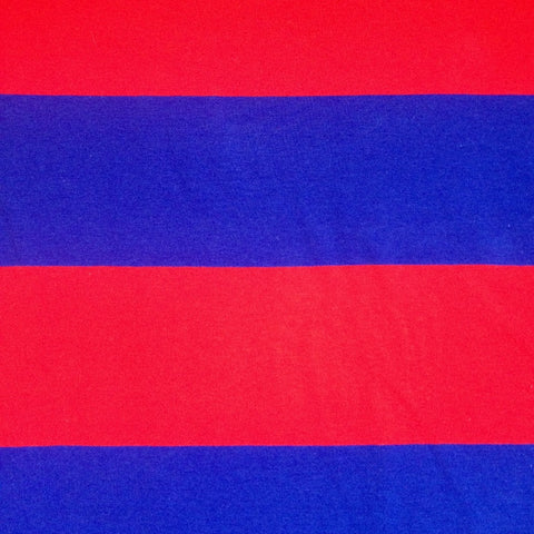 Red and Blue XL stripe cotton jersey (by the half metre)
