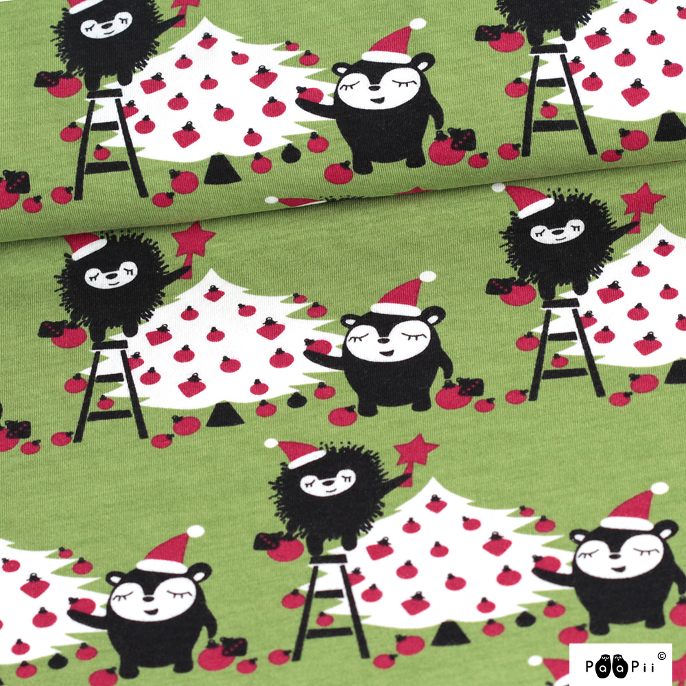 bbb35e0099f Siiri's and Myrry's Christmas tree organic cotton jersey (by the half –  Kitschy Coo