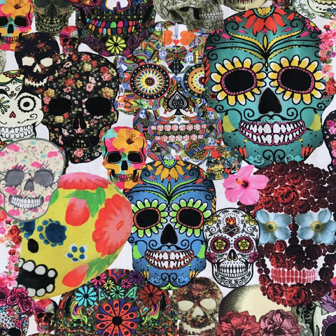 Skulls digital cotton jersey (by the half metre)