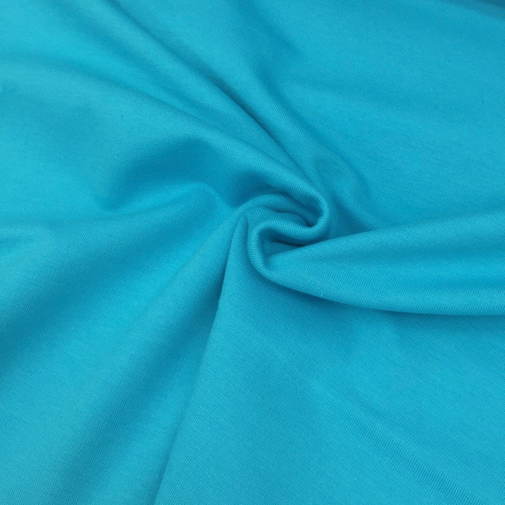 Turquoise plain organic cotton sweatshirting (by the half metre)