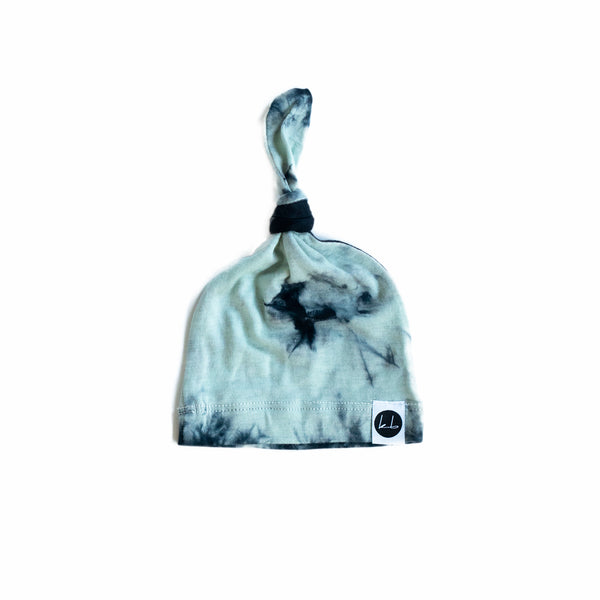 Superstition Terrain Tie Dye Top Knot Beanie