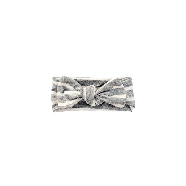 Gray Stripe Knotted Headband