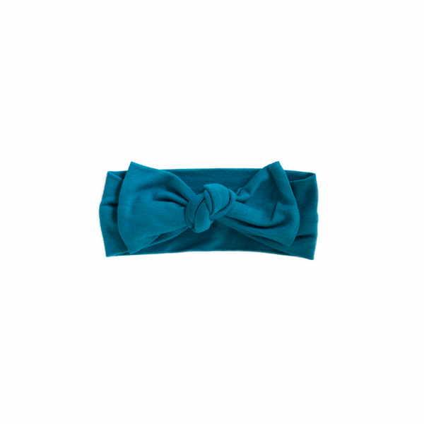 Powell Blue Knotted Headband