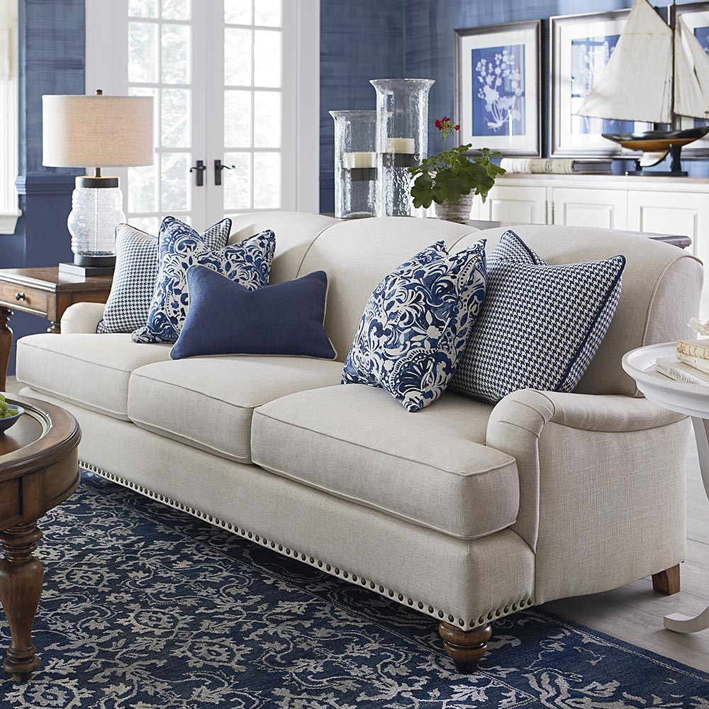 Davids Furniture & Interiors | Bassett Living Room Fabric Sofa