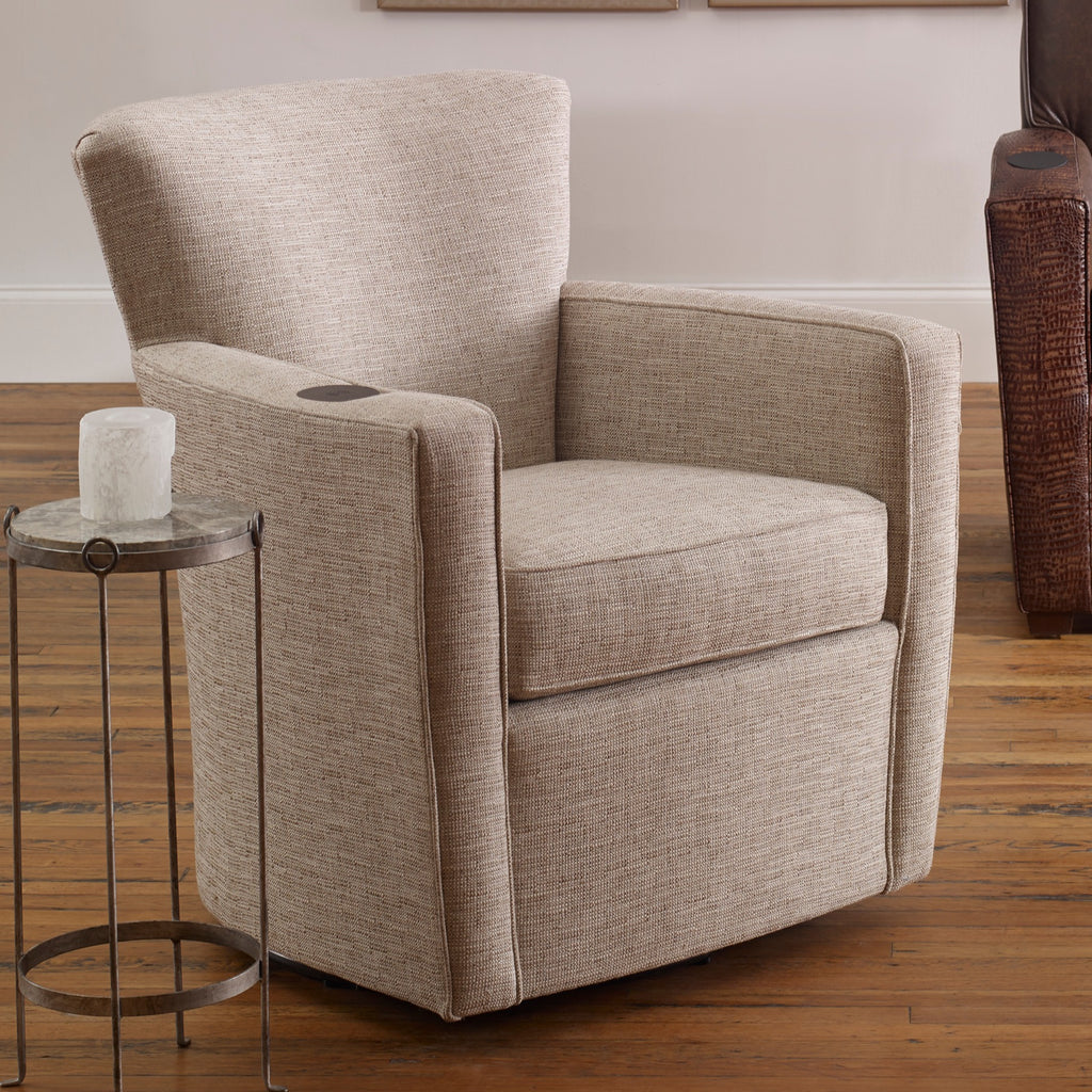 Fairfield Fabric Chair and Ottoman Fairfield Paterson Swivel Chair