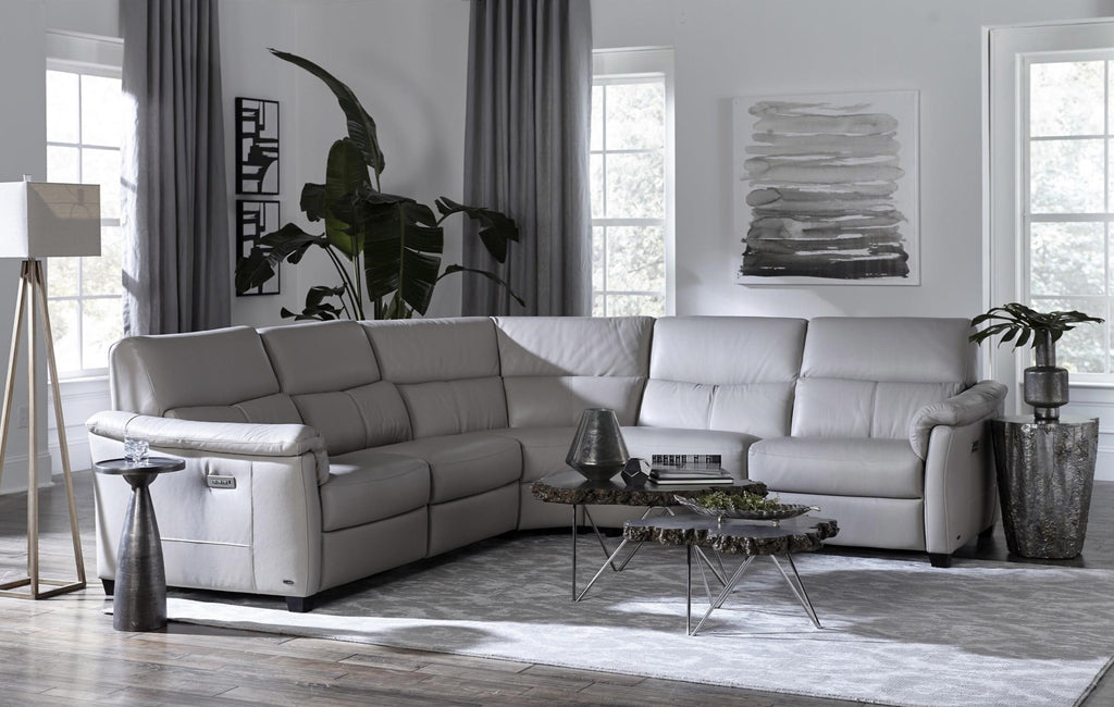 Natuzzi Editions Astuzia Power Reclining Sectional Sofa