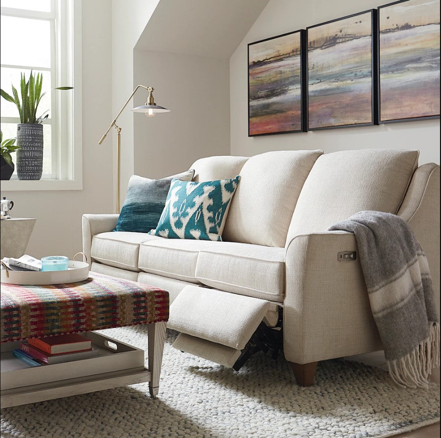 Bassett Fabric Motion Sectional Bassett Magnificent Reclining Fabric Sofa