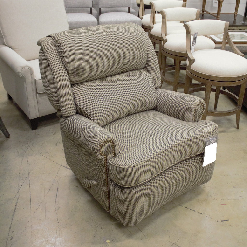 Leathercraft Leather Recliner and Ottoman Leathercraft Bradley Swivel Recliner