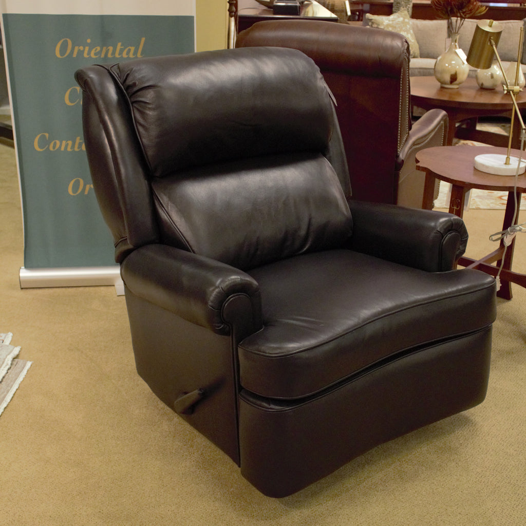 Leathercraft Mathis Heavy Duty Swivel Glider Manual Recliner
