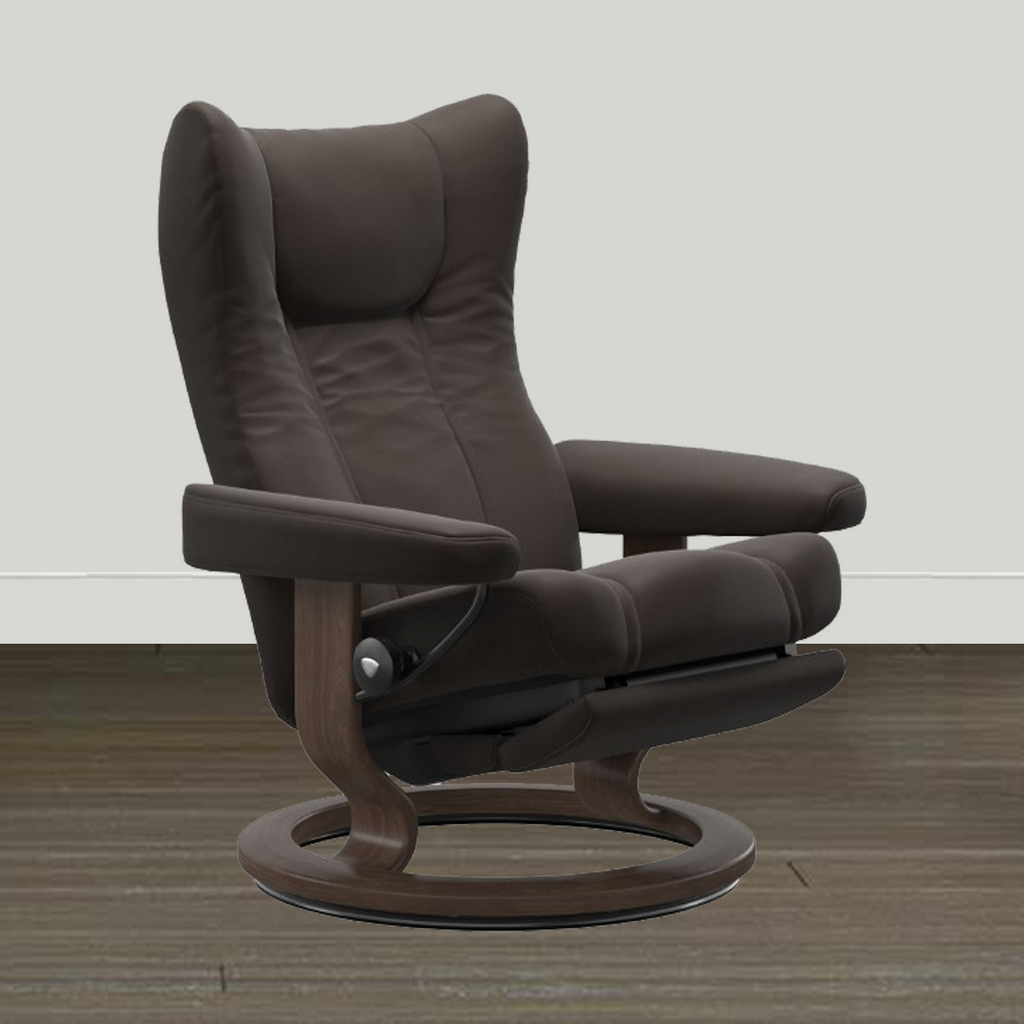 Ekornes Stressless Wing LegComfort Recliner and Ottoman