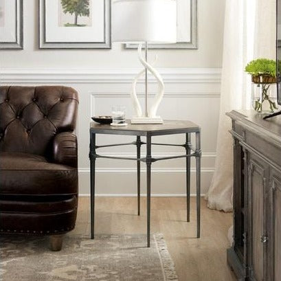 Madison Manor Woodlands Lamp Table with Metal