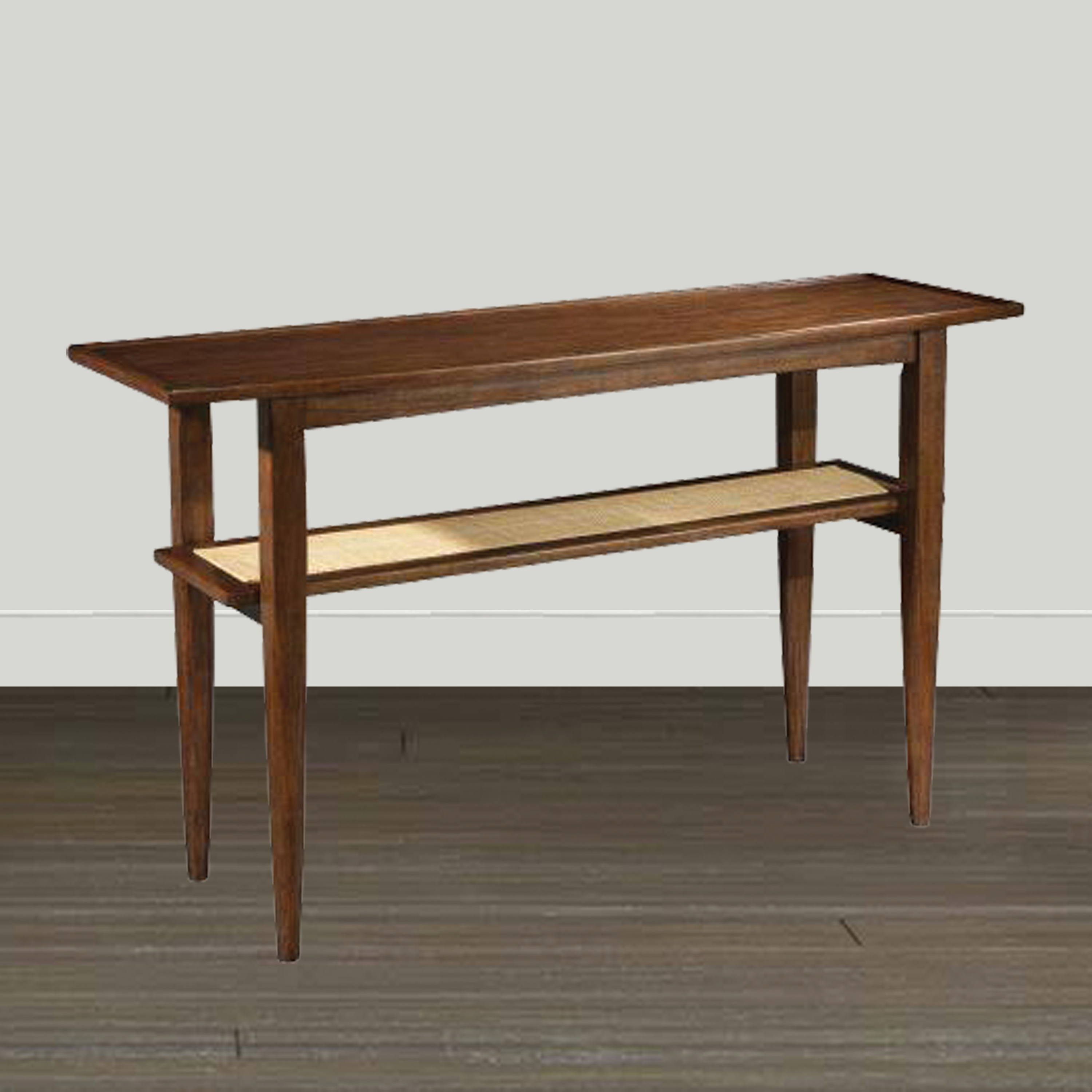 Hekman Console/Sofa Table Hekman Mid Century Modern Danish Sofa Table