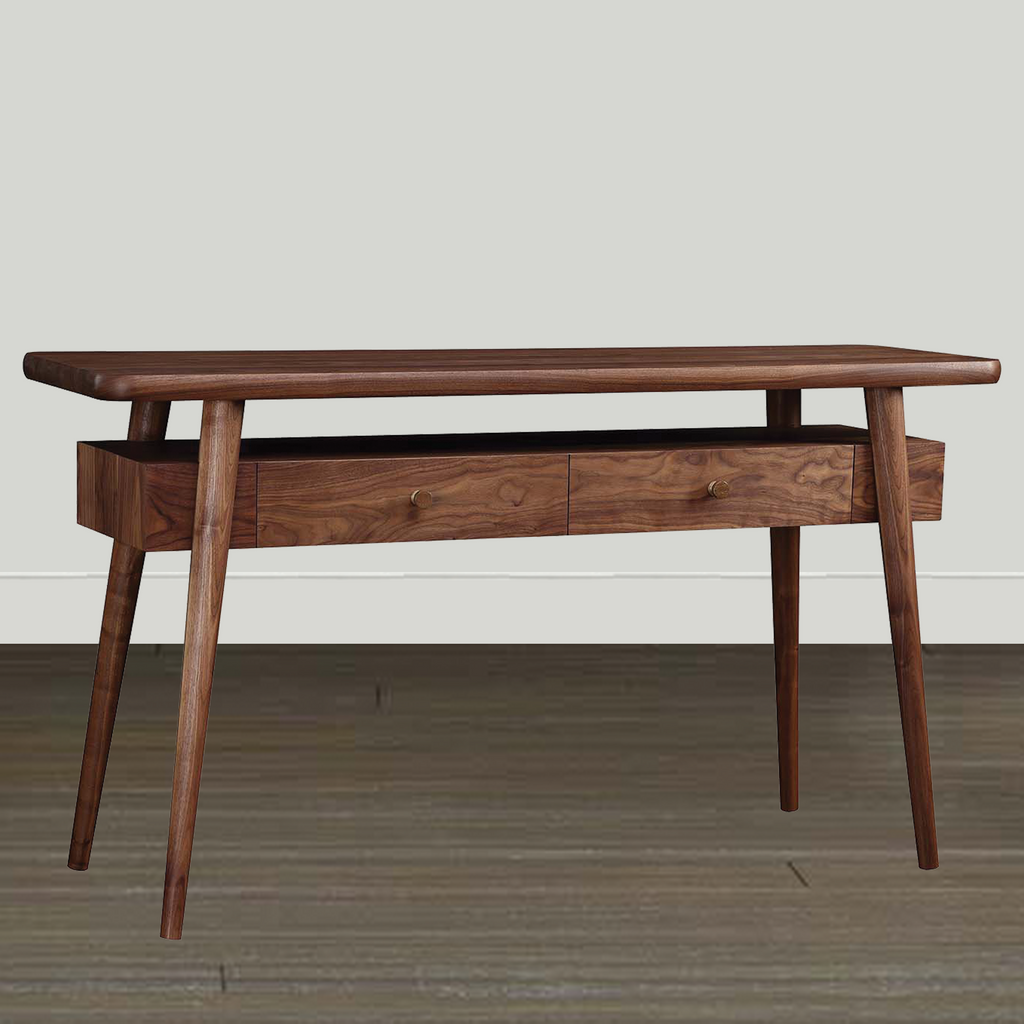 Stickley Walnut Grove Stone Insert Console Table