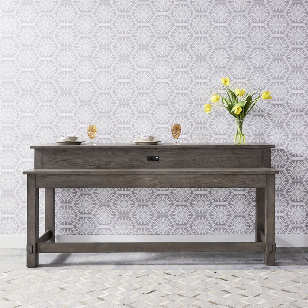 Liberty Furniture Modern Farmhouse Console Bar Table