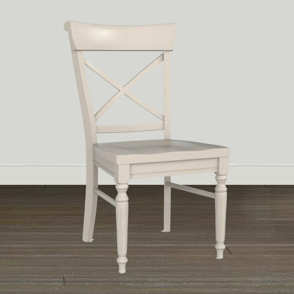 Bassett Dining Room Table/Chairs Bassett Custom Dining X-Back Side Chair