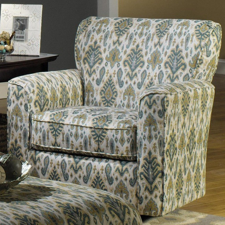Craftmaster Furniture Fabric Chair and Ottoman Craftmaster Sherpa Quick Ship Swivel Chair