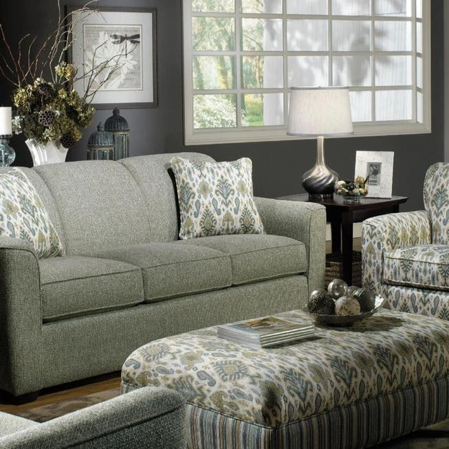 Craftmaster Furniture Sleeper Sofa Cozy Life Bang-Bang QuickShip Queen Sleeper Sofa