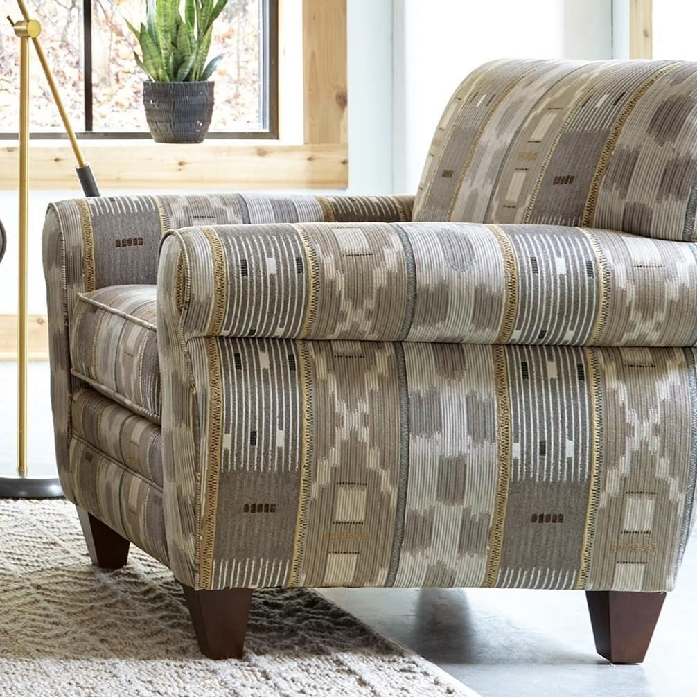 Craftmaster Furniture Fabric Chair and Ottoman Craftmaster Macarena Quick Ship Chair