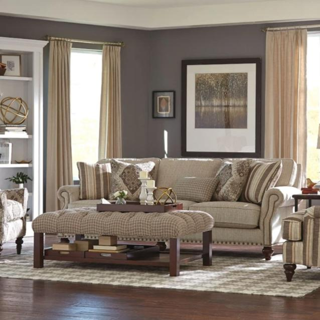 Cozy Life 100in New Traditions QuickShip Sofa