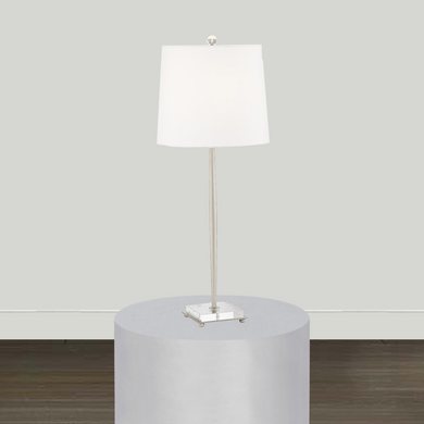 Pacific Coast Lighting Lighting Pacific Coast Lighting Steve Brushed Nickel and Steel Table Lamp