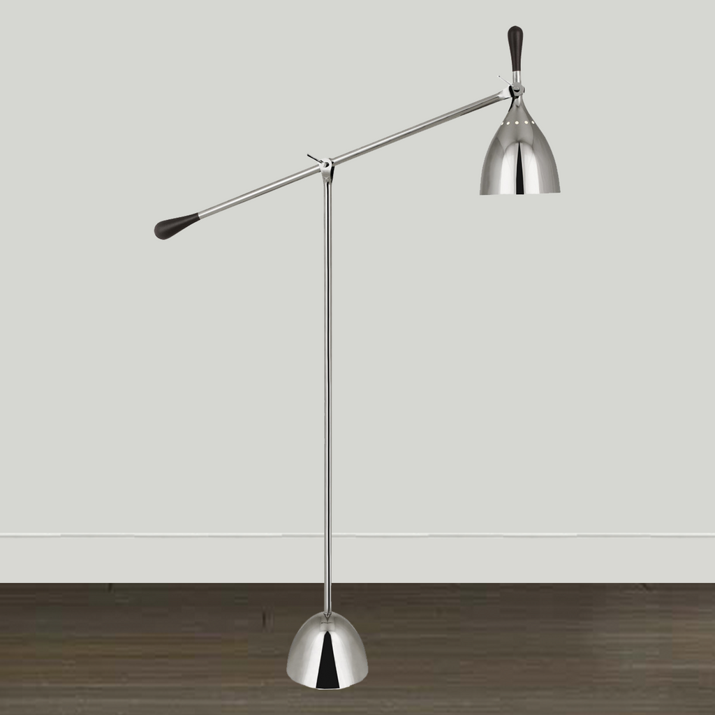 Robert Abbey Lighting Robert Abbey Ledger Polished Nickel Floor Lamp